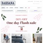 30% off Flash Sale, Store Wide Including Sale @ Baksana