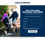 Win Two $500 Vouchers with Sketchers
