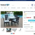 BetaLife Rattan Outdoor Dining 5PCS Set in $369.99 + Shipping @ Treasure Box