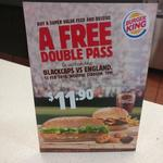 Buy a Super Value Feed for $11.90 and Receive a Free Double Pass to Blackcaps Vs England T20 Tonight @Burger King