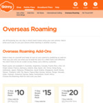 Skinny Mobile Roaming, 36 Countries (Inc Japan, Skorea, USA, CAN): 100min/500MB/3days $10, 1GB/7 Days $15, 200min/1GB/7days $20