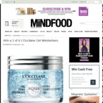 Win a 1 of 4 L'Occitane Gel Moisturisers from Mindfood