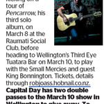 Win 1 of 2 Double Passes to Rob Joass  from The Dominion Post (Wellington)