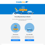 Free Selling on Trademe on Saturday 21st March, No Success Fees