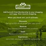 Free Summit Club Membership with Any Purchase @Kathmandu