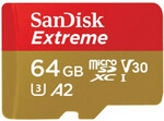 SanDisk Extreme 64GB For Action CAM Micro SDXC for $29 @PB Tech