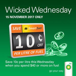Wicked Wednesday Bp 10 Cents off Per Litre