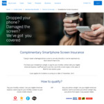 AmEx: Complimentary Smartphone Screen Insurance
