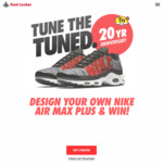 Win a Pair of Customized Nike Air Max Plus Shoes or 1 of 4 Weekly Prizes of Nike Shoes from Foot Locker [Instagram Entry]