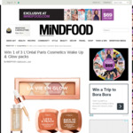 Win 1 of 3 L'Oréal Paris Cosmetics Wake up & Glow Packs from Mindfood