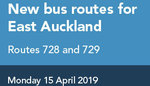 Free Travel on Bus 728 (Pakuranga to Panmure) and 729 (Howick to Panmure)