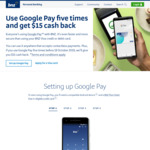 $15 Cashback When You Use Google Pay for 5 Transactions @ BNZ