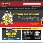 $2 Delivery on $20+ Online Spend @ Supercheap Auto This Weekend