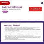 20% off Gardening (30% off Online During Easter) @ The Warehouse - Warehouse Money Card Holders Only
