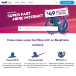 Stuff Fibre Unlimited 100/20 Plan - $49 Per Month for First 3 Months - No Contract Term (Also Includes 1 Free Movie Per Month)