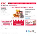 Hot & Spicy Tenders Lunch $7.50 @ KFC