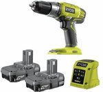 Ryobi ONE+ 18V Drill Driver Kit (Drill, charger, 2 x 2Ah batteries) $95 (Normally $169) @ Bunnings