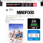 Win 1 of 10 Double Passes to The Trip to Greece from Mindfood