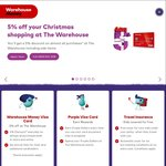 20% off Storewide @ Warehouse w/Warehouse Money Visa
