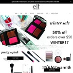 e.l.f. cosmetics 50% Off Everything with AUD $50 Spend, Free Shipping Min Order $60