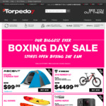 Torpedo 7 Boxing Day Sale - BOGOF Selected Items, 60% off Skull Candy, 50% off Skim Boards/Jandals + More