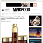 Win a Year's Supply of L'Oréal Paris Age Perfect Intense Nutrition Range (Worth $1500) from Mindfood