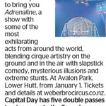 Win 1 of 5 Double Passes to Weber Bros Circus from The Dominion Post (Wellington)