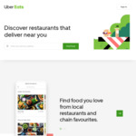$10 of Your Food + Free Delivery with Uber Eats (New Customers)
