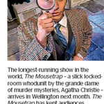 Win a Double Pass to The Mousetrap from The Dominion Post (Wellington)