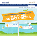 Win 1 of 5 Two Night Stays at a Retirement Village or 1 of 20 Meals for 2 from Metlife Care