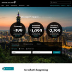 $50 off Return Flights to/or from Wellington (June-August) @ Air New Zealand