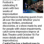 Win The New Zealand Improv Festival Tickets from The Dominion Post (Wellington)