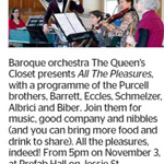 Win a Double Pass to The Queen's Closet Presents All The Pleasures from The Dominion Post (Wellington)