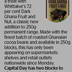 Win 1 of 2 Whittaker's 72 Per Cent Dark Ghana Fruit and Nut Bars from The Dominion Post