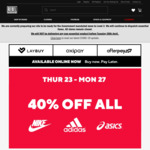 40% off Nike, adidas & ASICS, 30% off Everything Else @ Rebel Sports