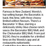 Win 1 of 3 Wendy's Baconator Combo Vouchers from The Dominion Post