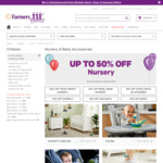 Nursery Sale - up to 50% off (Excludes Superdeals, Clearance) @ Farmers.co.nz