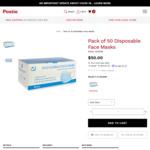 Pack of 50 Disposable Face Masks for $50 Delivered @ Postie