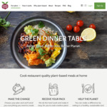 20% off First Box @ Green Dinner Table