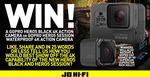 Win a GoPro Hero5 Black 4K Action Camera or a GoPro Hero5 Session Waterproof 4K Action Camera from JB Hi-Fi