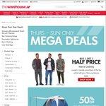Buy 1 Get 1 Half Price Men's Clothing, 50% off Kiwi Camping Range & More @ The Warehouse