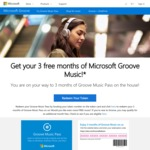 Free 3 Month (Stackable Codes / 3 Years Total) Microsoft Groove Music Pass Codes