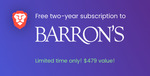 Free 2-Year Subscription to Barron's Financial Investing (Worth $479 USD) or MarketWatch (Worth $198 USD) from Brave