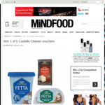 Win 1 of 5 Castello Cheese Vouchers from Mindfood