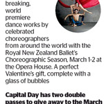 Win 1 of 2 Double Passes to Royal New Zealand Ballet from The Dominion Post (Wellington)