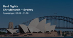Christchurch to Sydney from $263 Return (August) on Jetstar @ Beat That Flight