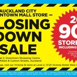 Warehouse Stationery Auckland Downtown Store Closing 20%-90% off Storewide Including Clearance