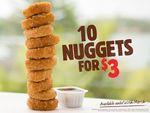 10 Nuggets $3 @ Burger King