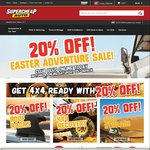 20% off Easter Sale on Saturday @ Super Cheap Auto
