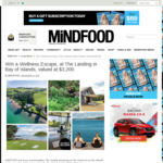 Win a 2 Night Wellness Escape, at The Landing in Bay of Islands (Worth $3,200) from Mindfood